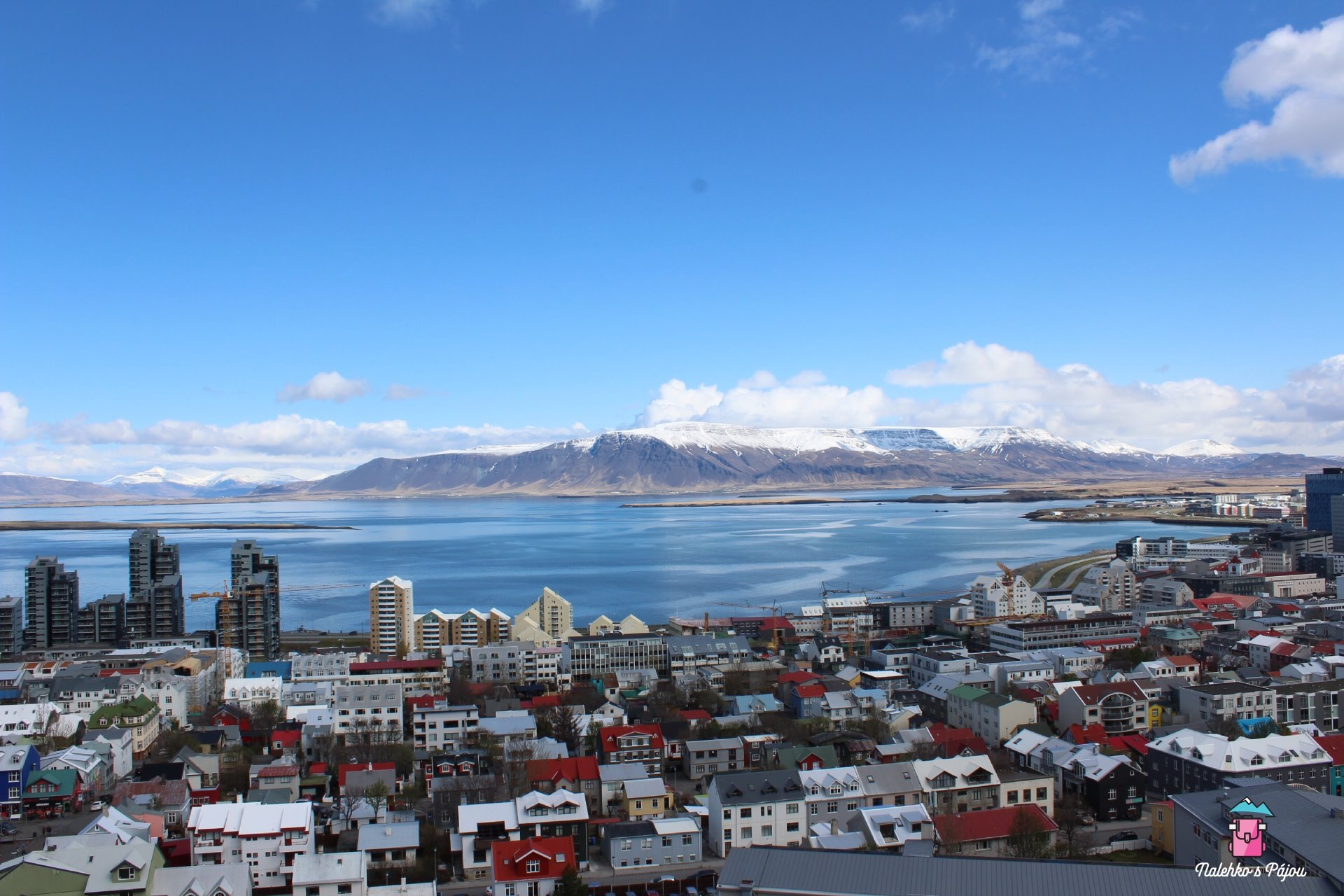 Pohled z kostelní věže na Rejkjavík