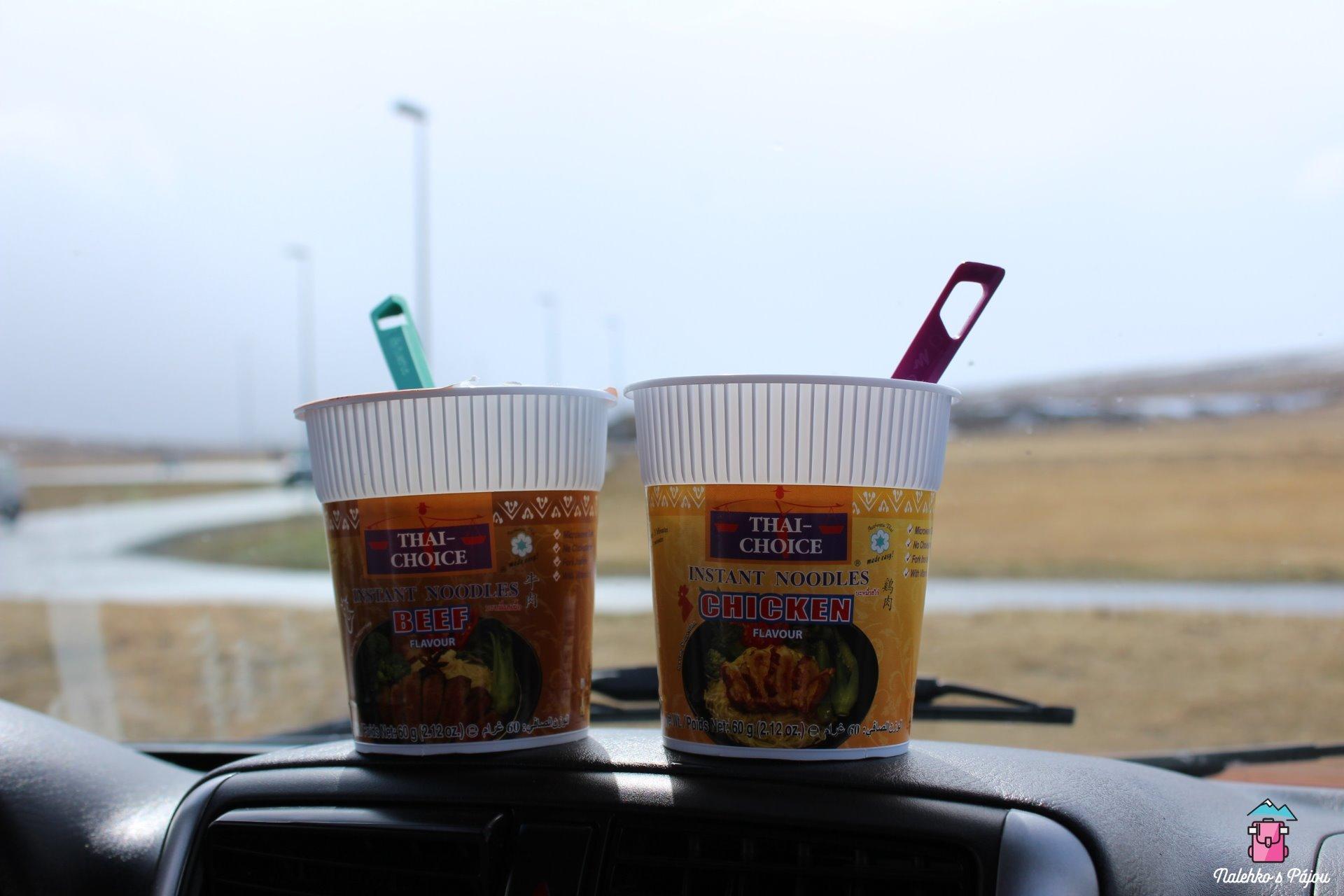 Ve chvíli kdy jsme vyjely z fjordů na silnici N1, musely jsme dát oběd :)
