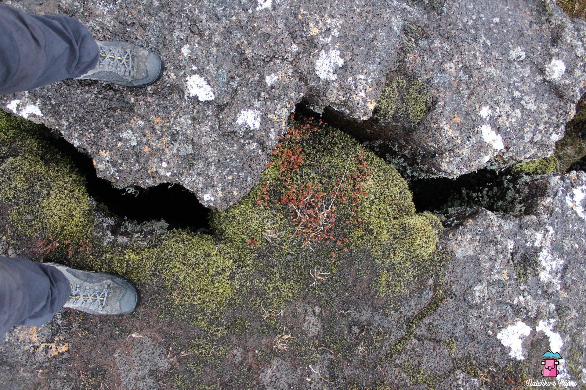 Národní park Pingvellir a dvě tektonické desky - Severoamerická a Euroasijská