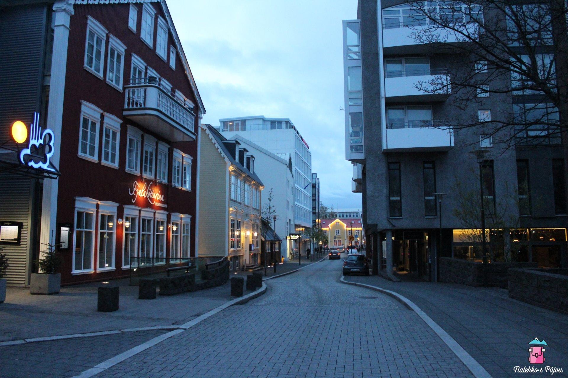 Noční Rejkjavík